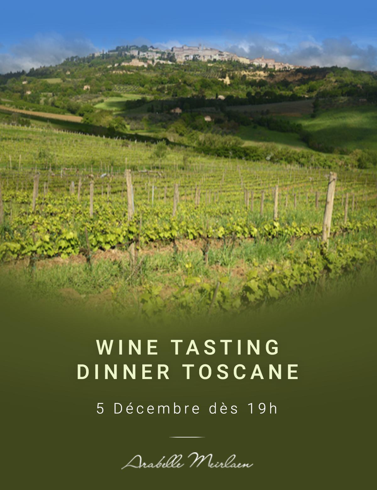 Wine Tasting Dinner toscane